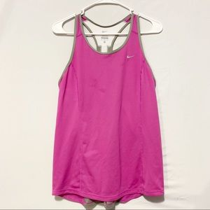 Purple and Gray Nike Tank Top | Womens Medium